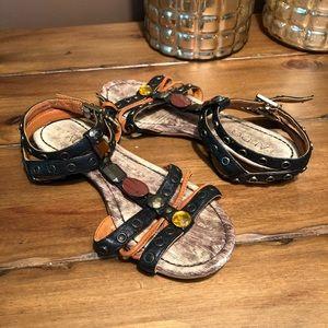 ALDO Strappy Gemstone Gladiator Boho Sandals 38